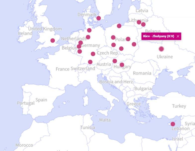 Европейские лоукостеры: рейсы WizzAir