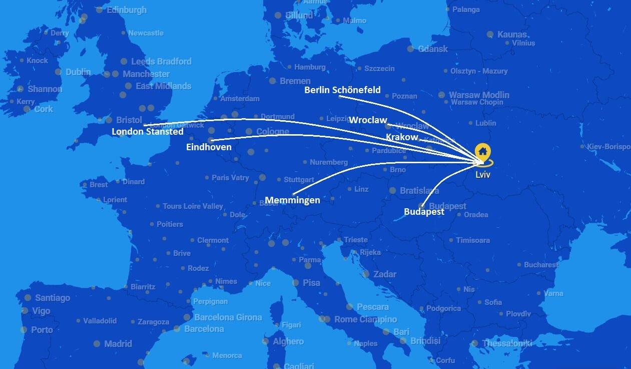 Европейские лоукостеры: рейсы RyanAir из Львова