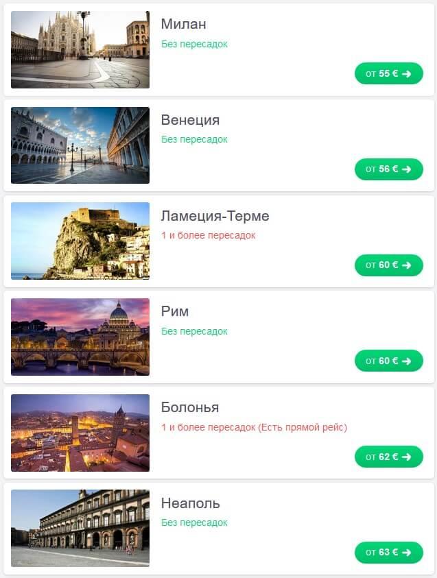 Лоукостери зі Львова до Італії